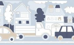 tapet bordura masini albastre 2279 Shops, Kids Rugs, Flooring, Holiday Decor, Design, Home Decor, David, Building Information Modeling, Paint