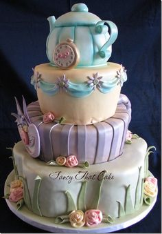 Elegant Alice in Wonderland Cake