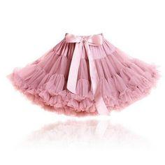 Chiffon Pettiskirt Rose Pink, 1 - 6 jaar Tutu Skirt Women, Tutu Skirts, Dance Skirts, Pink Tutu, Tutus For Girls, Ball Gown Dresses, Dress With Bow, Tulle, Toms
