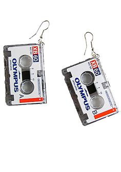 cassette earings   this is so cool