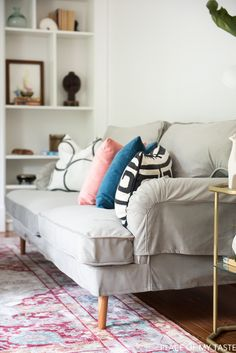 All you need is a new sofa SLIPCOVER to make your old sofa look brand new! Check out this beautiful sofa cover!