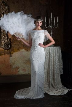 Wedding Designs 2016 Wedding Dresses Eliza Jane Howell 'The Grand Opera' Collection - I'm blown away by today's theatrical-inspired wedding dress feature. Gill Harvey has brought together her years of experience to create Eliza Jane Howell Gatsby Wedding Dress, 2016 Wedding Dresses, Country Wedding Dresses, Princess Wedding Dresses, Wedding Gowns, Gatsby Party, Roaring 20s Wedding, Flapper Wedding, Cinderella Wedding