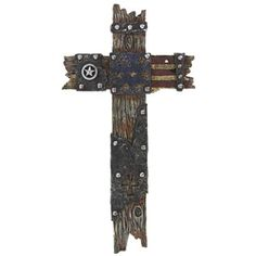 On sale at Hobby Lobby: Cross made out of US flag. Disgusting. It's horrible when you think of it: a tattered flag and a tattered cross.  Patriotic? Religious? Probably made in China since most of their offerings are.