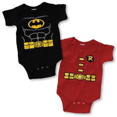 Batman and Robin Onesies