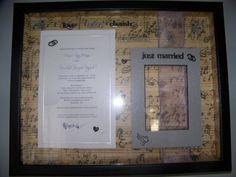 Cute shadow box for wedding memories!