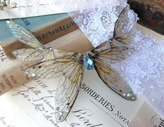 Beautiful large Faerie wing necklace by UndertheIvy2 on Etsy, £36.50