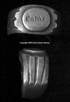 ROMAN LEGIONARY RING OF THE XXI RAPAX Mid 1st Century AD to 92 AD