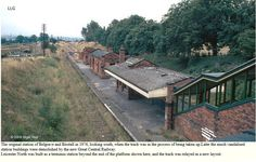 Belgrave and Birstall on the Great Central Railway ( preserved) was replaced with Leicester north station Disused Stations, Leicester, Railroad Tracks, Cabin, Park, The Originals, House Styles, Building, Memories