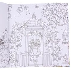 Kid Adult Secret Garden English Inky Treasure Hunt Coloring Book 20 Pages Gift B