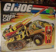Rare Vintage G.I Joe Tiger Force Tiger Cat Covert Assault Half-Track 1988. $147.00, via Etsy.#gijoe #vintage #tigercat #tigerforce