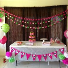 31 Best Pink And Lime Baby Shower Images Baby Shower Parties
