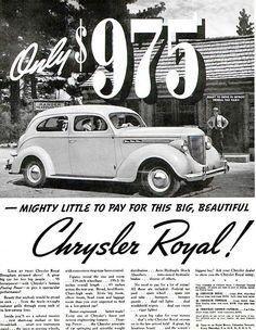 1938 Chrysler Royal Ad.