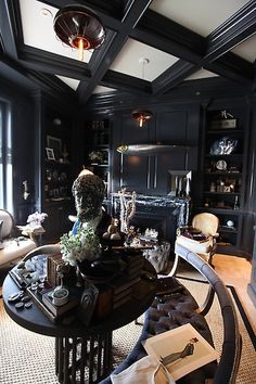 """The Collectors Library""""  by Jonathan Rachman Design  SFSHse  second level, now this is a room too shout about thats just sublime!  the depth & quality of objects & keeping in character with the architecture,  this is superb!   bravo!"""