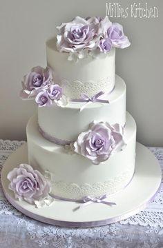 Purple Cakes, Purple Wedding Cakes, Lilac Wedding, Fall Wedding Cakes, Elegant Wedding Cakes, Elegant Cakes, Beautiful Wedding Cakes, Wedding Cake Designs, Beautiful Cakes