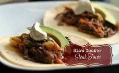 Slow Cooker Steak Tacos | Aunt Bee's Recipes