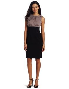 Nine West Dresses Women's Two-fer Dotted Ruffle Dress « Clothing Impulse