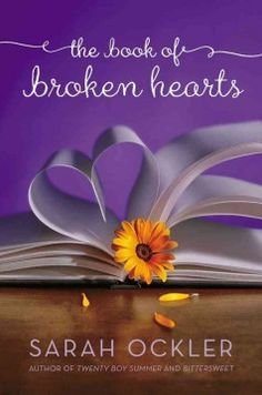 The Book of Broken Hearts by Sarah Ockler It's purple! And the font is cute, yet readable. I like how they got to make the book pages form a heart. Ya Books, Books To Read, Contemporary Romance Novels, Realistic Fiction, Young Adult Fiction, Books For Teens, Summer Boy, The Fault In Our Stars, The Book