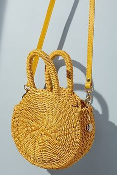 Clare V. Lea Woven Crossbody Bag
