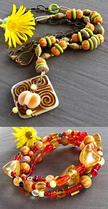 This great necklace/bracelet combination is from Linda Landig with beads from Bead Lounge!