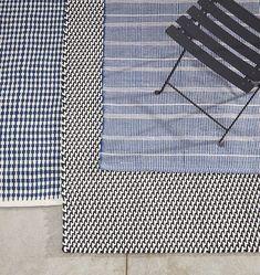 Houndstooth Stripe Indoor/Outdoor Rug -   Rejuvenation