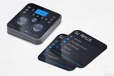 Mixer DJ Business Cards  Music  Die-Cut  Rounded by AxylusDesigns