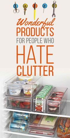 34 Wonderful Products For People Who Hate Clutter - Refrigerator - Trending Refrigerator for sales. - 34 Wonderful Products For People Who Hate Clutter Organisation Hacks, Organization Station, Clutter Organization, Household Organization, Craft Organization, Freezer Organization, Bedroom Organization, Declutter Your Home, Organize Your Life