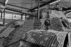 Massive front of a Panzer V Panther (B&W) by Marc Synwoldt - Photo 75132665 - 500px