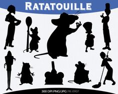 Ratatouille Instant Download silhouette by pinkykatieclipart