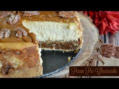 Pecan Pie Cheesecake | Okay, so I LOVE CHEESECAKE! I even have a category in my recipe section dedicated to cheesecake. There you will find over 30 recip