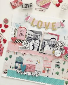 Valentine's Day - Dia dos Namorados - Crate Paper, LaLaLove e All Heart All Heart, Admit One, Crate Paper, Crates, First Love, Dan, Gallery Wall, Scrapbook, Instagram