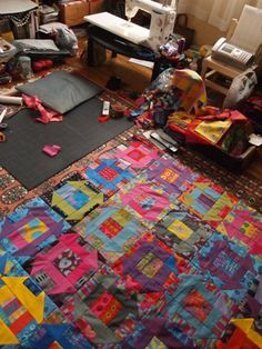 keiko goke's workplace hmm - sewing on the floor
