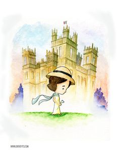 Downton Abbey Lady Mary by Ben Byrd! Love this! 9x12 Watercolor Print by BenByrdArtwork, $9.99