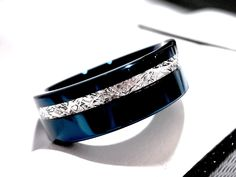 2d8b1c8a41eee Men Tungsten Wedding Bands Square Diamond Stone Setting Gun ...