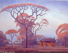pierneef - Google Search African Paintings, Old Paintings, Fantasy Trees, South Africa Art, Drawing Trees, Bonsai Art, South African Artists, Witch Art, Art Graphique