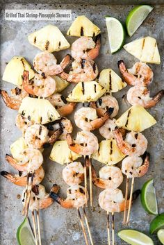Grilled Thai Shrimp-Pineapple Skewers. Easy to make, grill in 4 minutes with a blend of slightly spicy shrimp and sweet pineapple. - BoulderLocavore