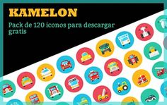 Kamelon. Un pack de 120 iconos vectoriales para descargar gratis
