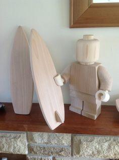 Wooden lego surfer by Ragskin