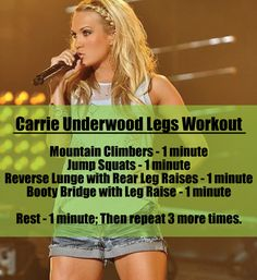 Carried Away with Carrie Underwood's Leg Routine