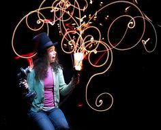 Awesome light painting #photography