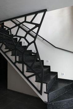 île LANNIC acier : escalier moderne avec un limon crémaillère ...