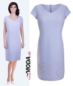 63c7b86daa26 Krásne elegantné dámske modré letné šaty vhodné na svadbu či inú  spoločenskú udalosť - trendymoda.