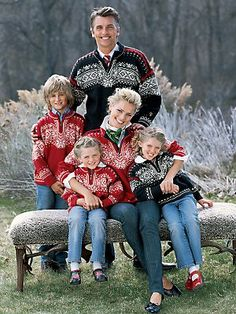 I can't wait to make my family wear these matching sweaters for our Christmas card photo! (the 2+ huge dogs, not pictured, will have matching scarves and/or hats)