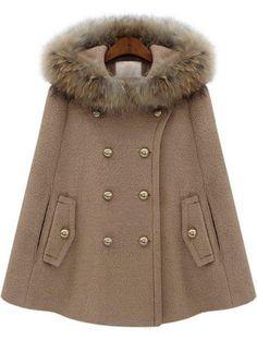 Fur Hooded Cape