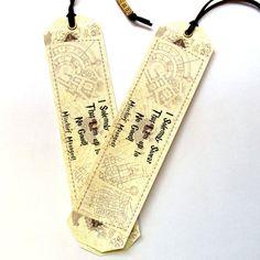 Set of two 2 Original Handmade Bookmarks Harry Potter marauders map, Unique bookmark Harry Potter, Bookmark canvas print, Marauders Map