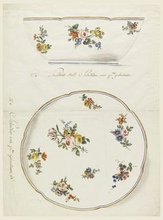 "Drawing, ""Design for a Painted Porcelain Salad Bowl, for Sèvres Porcelain Manufactory"", ca. 1775"