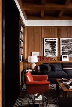 〚 Gorgeous bachelor apartment on Bank Street in New York 〛 ◾ Photos ◾Ideas◾ Design Masculine Interior, Classic Interior, Home Interior, Interior Decorating, Mad Men Interior Design, Interior Colors, Architecture Restaurant, Interior Architecture, Muebles Shabby Chic