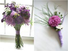 Purple Wedding Flowers from rusticweddingchic.com