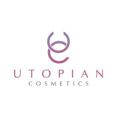 letter form _ wordmark. Women.   Utopian Cosmetics