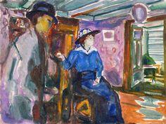 Man and Woman (1913 - 1915) Edvard Munch