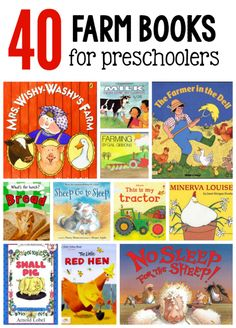 These farm books for preschoolers are wonderful to read during a preschool farm theme!
